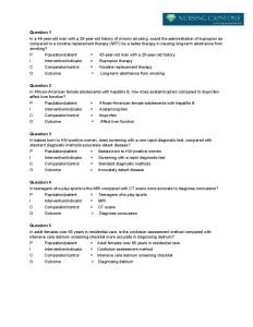 Nursing Pico Questions