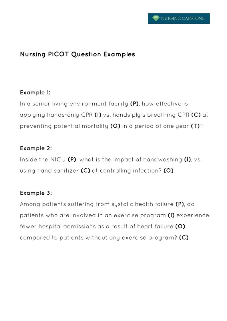 pico nursing topics
