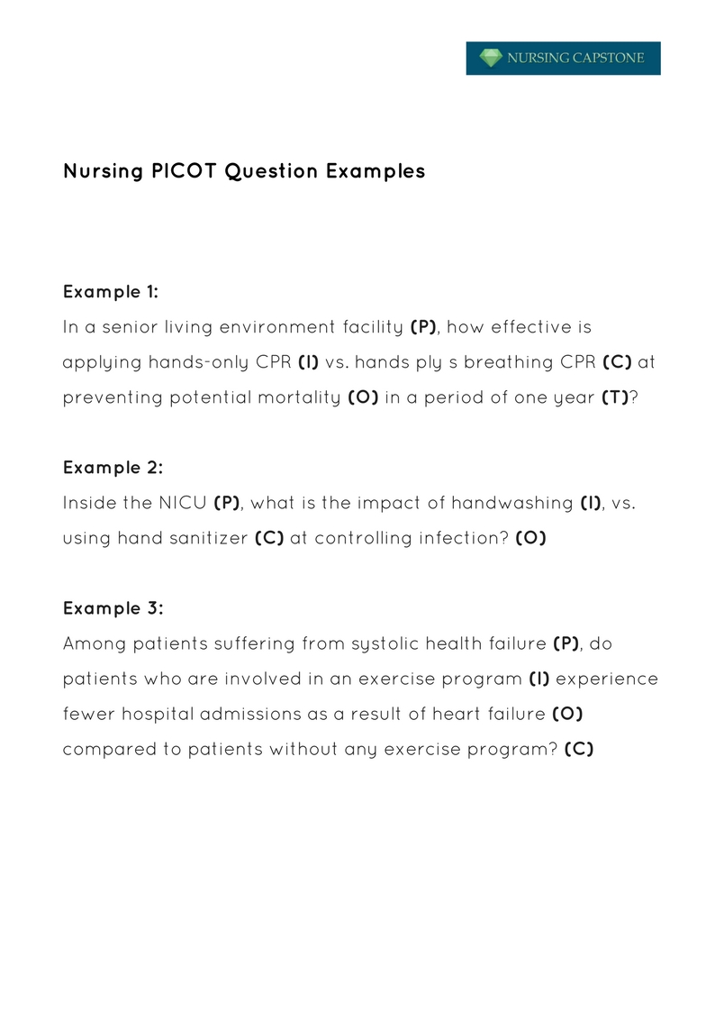 Picot Paper Example Nursing