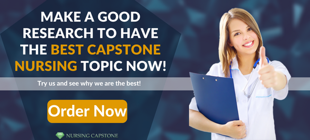 best nursing capstone project ideas