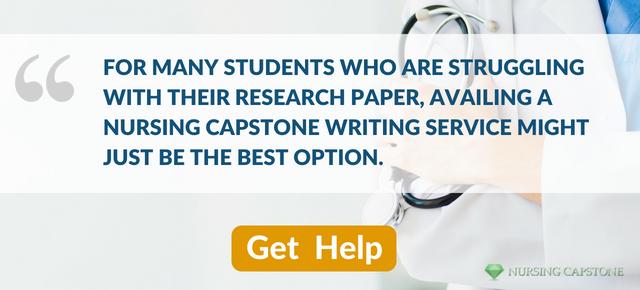 expert nursing capstone project help