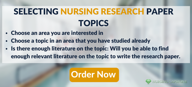 nursing research paper topics