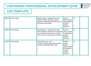 example of nursing cpd portfolio