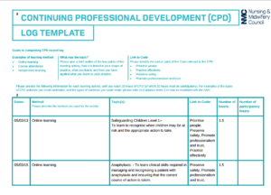 nursing cpd portfolio sample