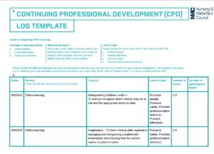 nursing cpd portfolio sample