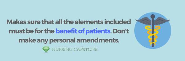 advice on writing a nursing care plan