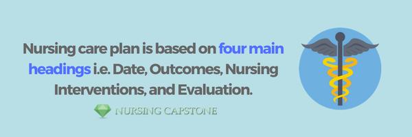 nursing care plan formatting advice