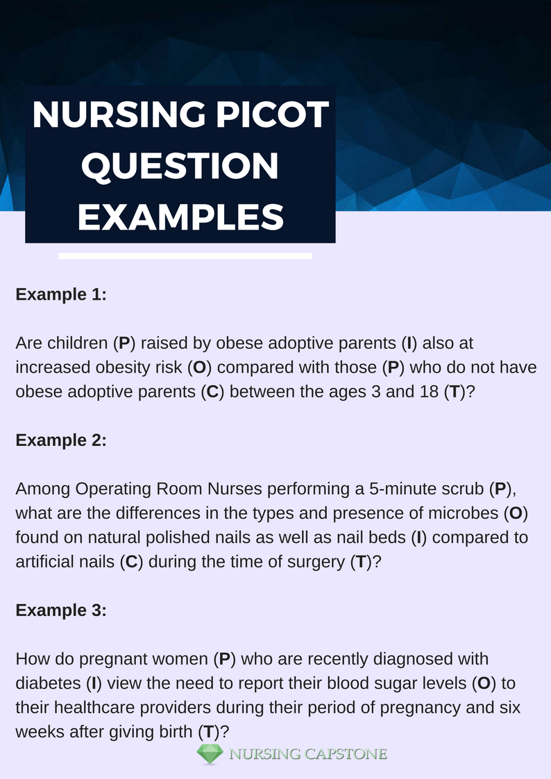 nursing picot question examples