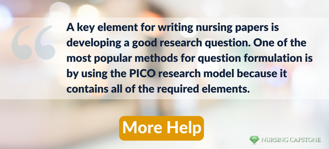 pico nursing questions