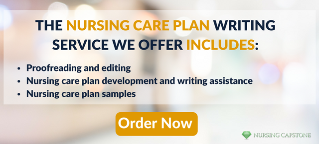 proper format for nursing care plan