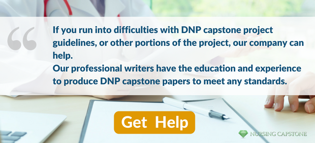 help writing dnp capstone project step by step