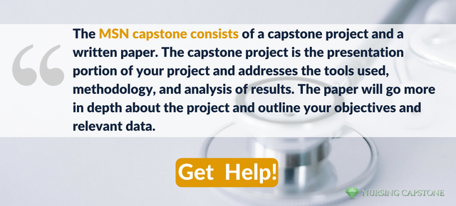 msn capstone paper writing tips